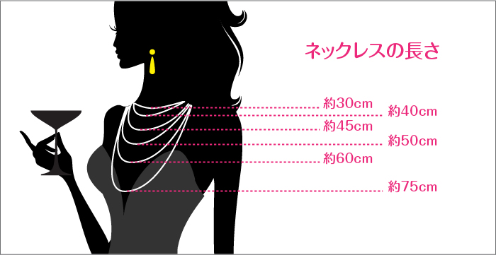 ネックレスの長さ画像