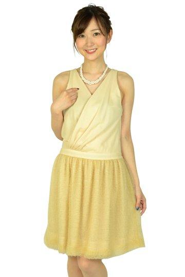 クリーム切り替えドレス