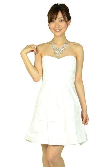 ホワイトシンプルベアミニドレス