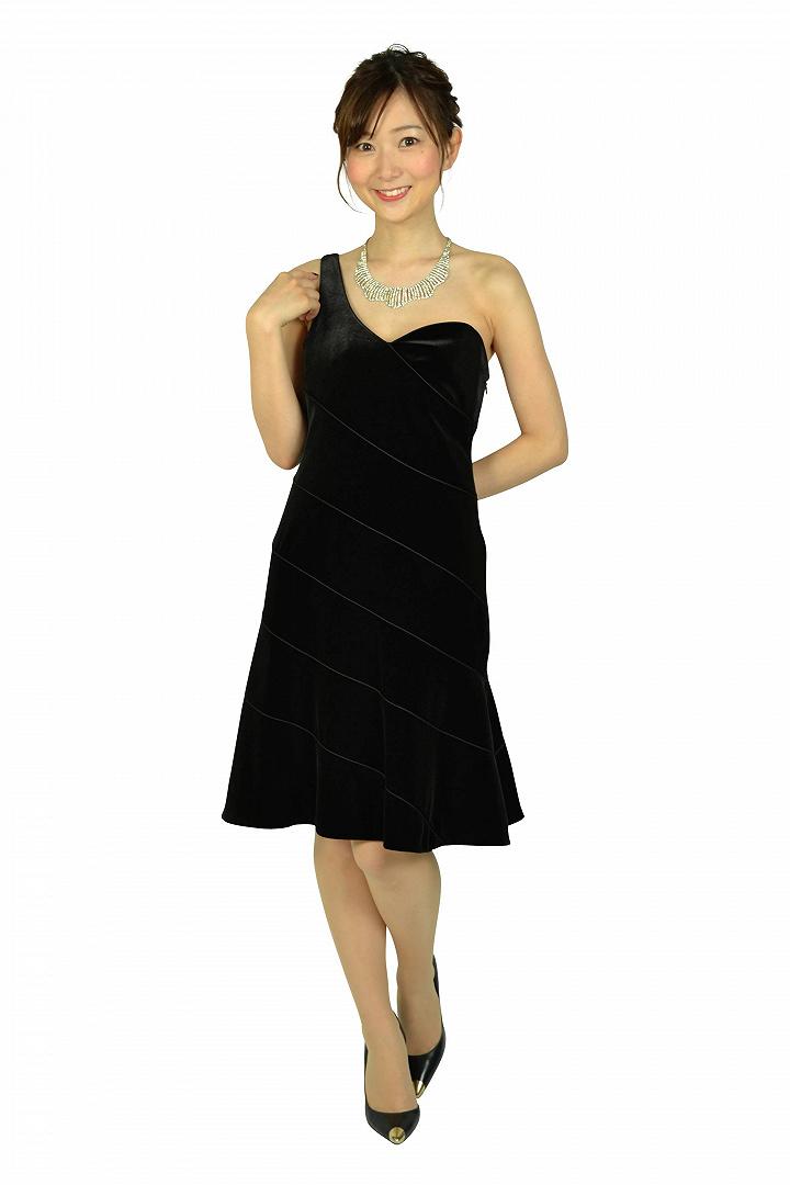 ブラックワンショルダードレス