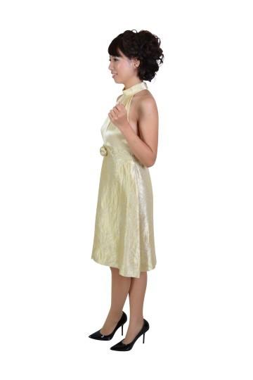 アメリカンスリーブクリームドレス