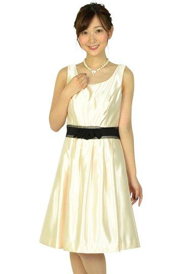 ライトピンクウエストリボンドレス