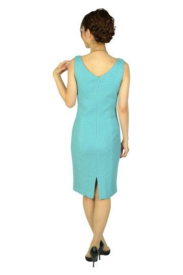 スカイブルーツイードドレス