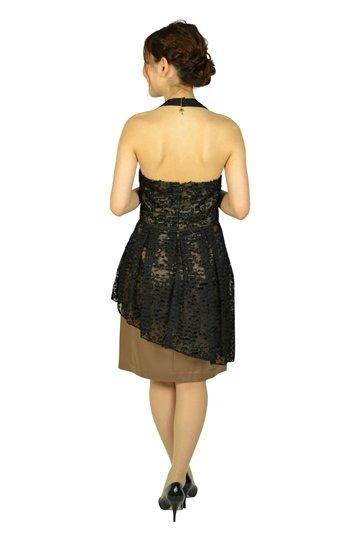ブラックホルダーネックドレス