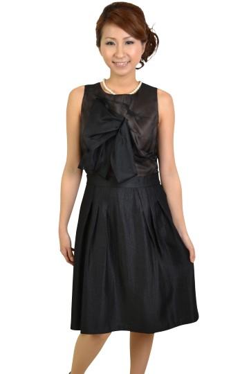 ブラック胸デザインドレス