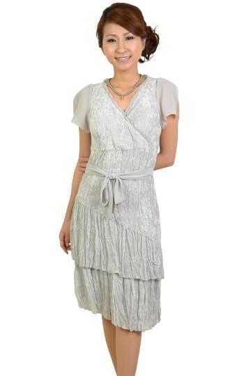 グレーラップ風ドレス