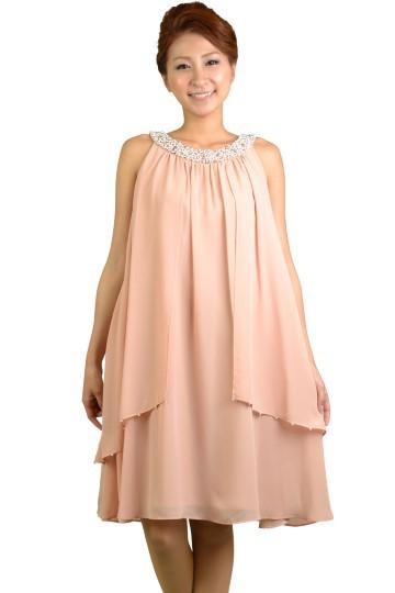 アメリカンスリーブピンクドレス