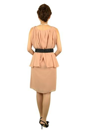 シンプルドレープピンクドレス