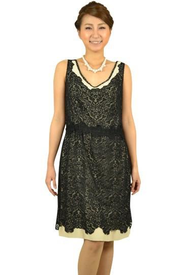 ブラック柄ドレス