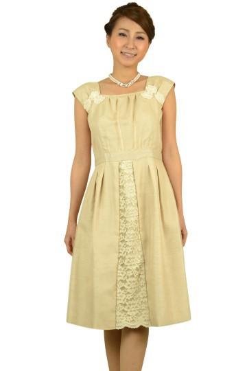 シャンパンレースドレス