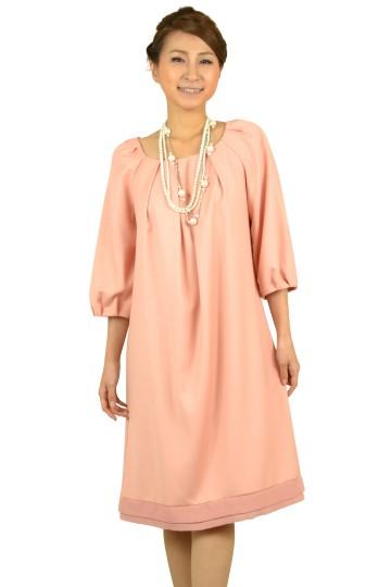 ピンク7分袖ドレス
