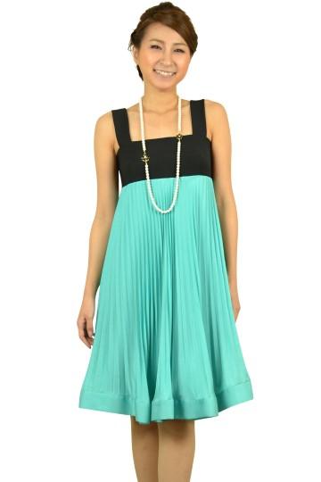 ブルーグリーンバイカラードレス