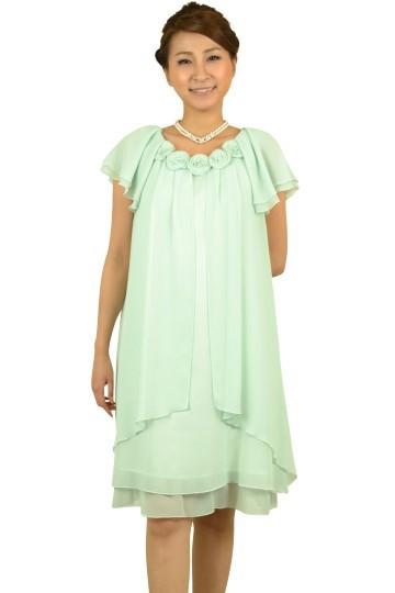 柔らかミントカラードレス