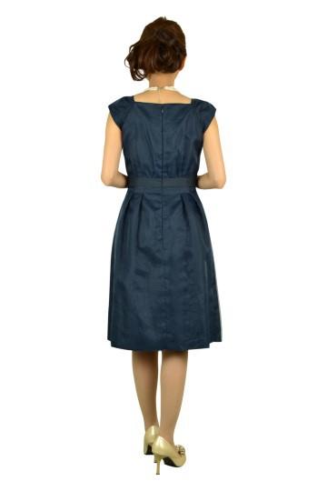 ネイビーレースドレス