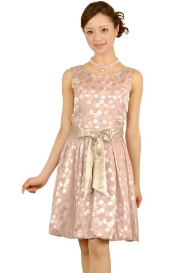 ピンクドットバルーンドレス