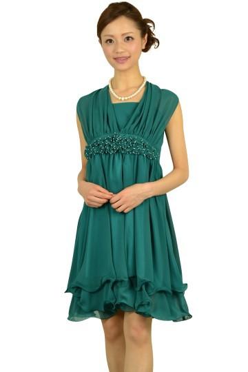 グリーン編み上げドレス