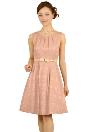 ピンクレースボンディングドレス