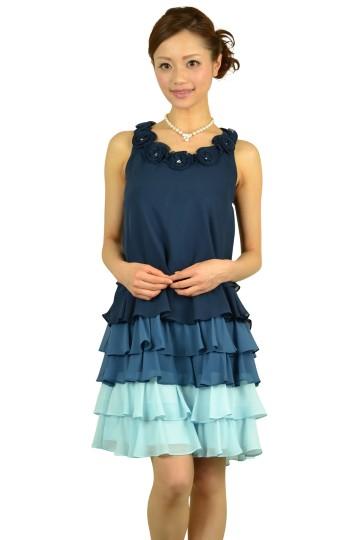 ブルーグラデーションドレス