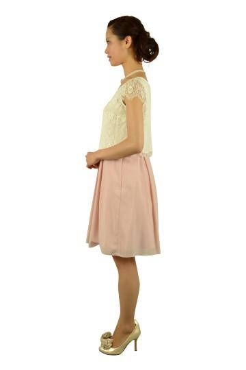 ピンクレーストップスドレス