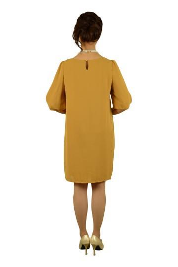 7分袖からしカラードレス