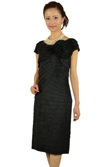 上質ブラックティアードドレス