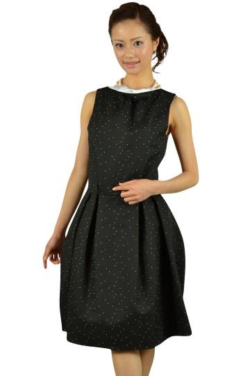 ブラックドットドレス