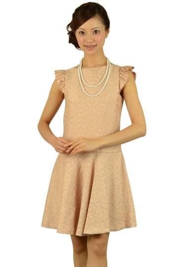 フラワージャガードピンクドレス