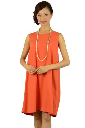 シンプルオレンジドレス