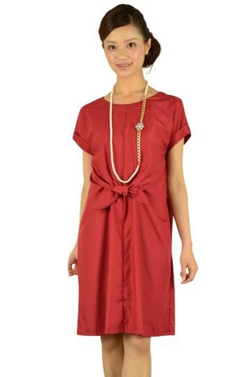 インナー付きワインレッドドレス