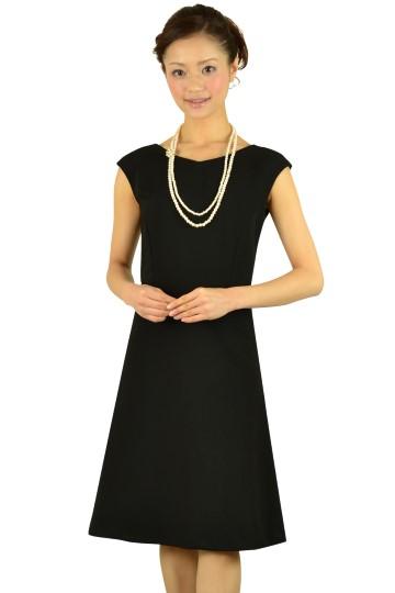 上質ブラックミディドレス