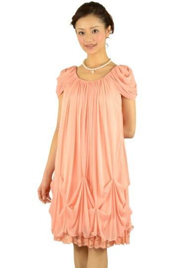 ピンクオレンジゆったりドレス
