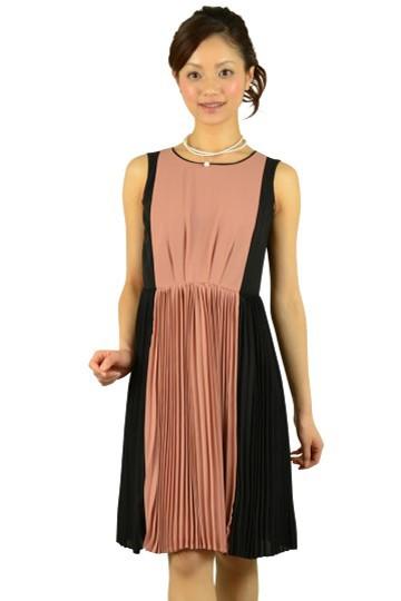 Iラインピンク×ブラックドレス