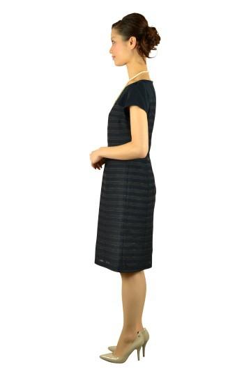 上質ネイビーボーダードレス