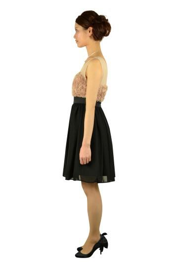 ローズモチーフ切り替えドレス