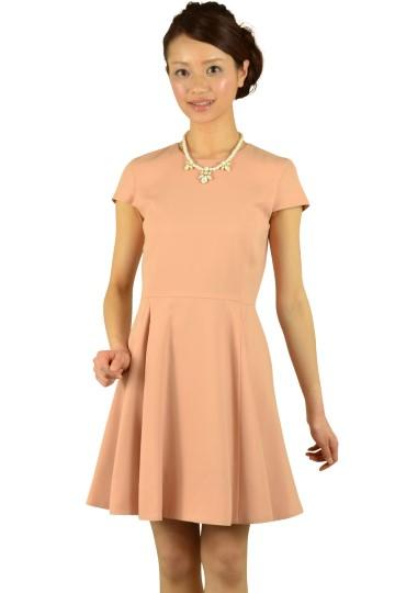 上品ベージュオレンジドレス