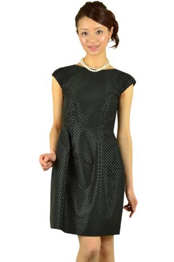 ブラックドットコクーンドレス