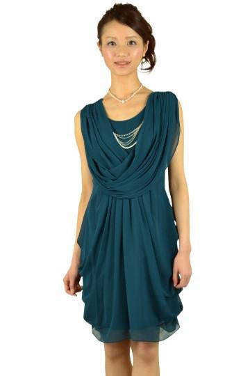 ドレープダークグリーンドレス