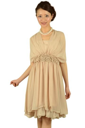 ベージュ編み上げドレス