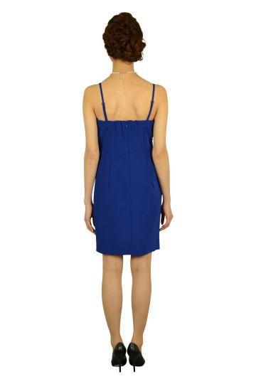 華やかブルーローズドレス