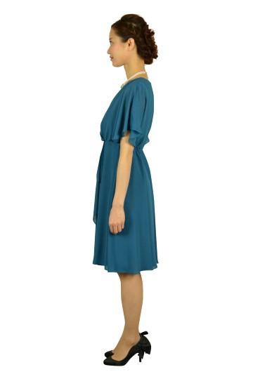 ブルーキモノスリーブドレス