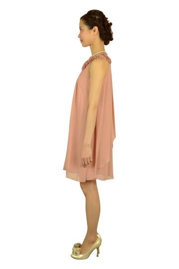 ピンクカラーローズドレス