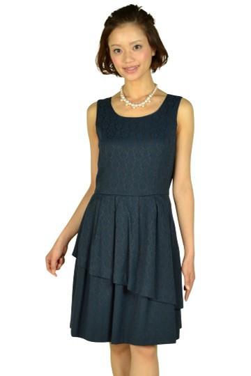 ネイビージャガードドレス