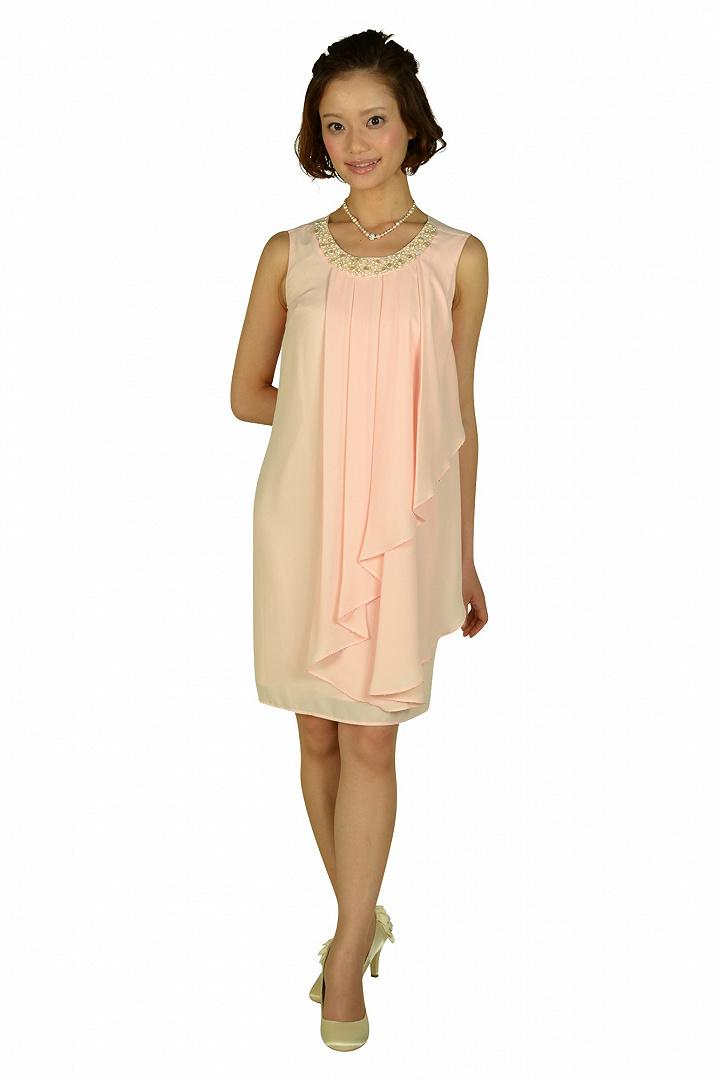ピンクノースリーブドレス