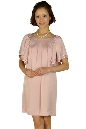 ゆったりフレア袖ピンクドレス