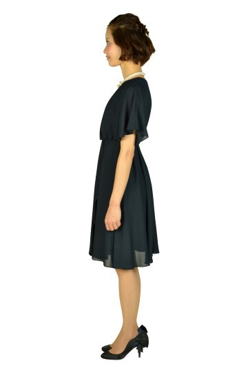 ネイビーキモノスリーブドレス