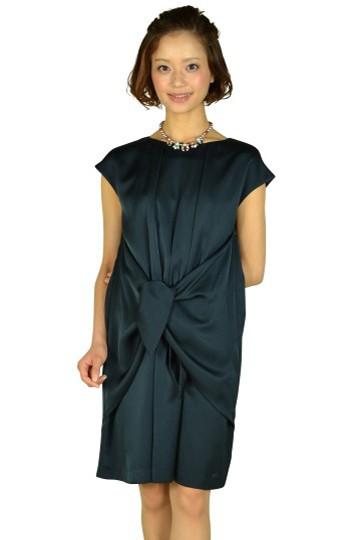 リボンモチーフネイビードレス