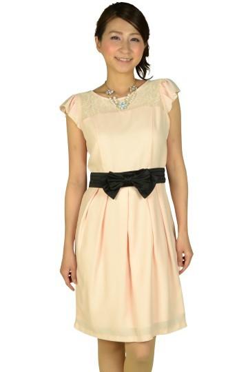 ヨークレースセミタイトドレス