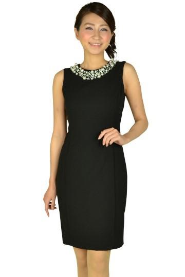 ビジュタイトブラックドレス