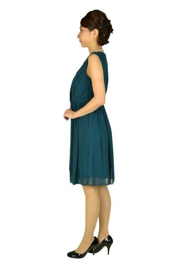 エレガントモスグリーンドレス