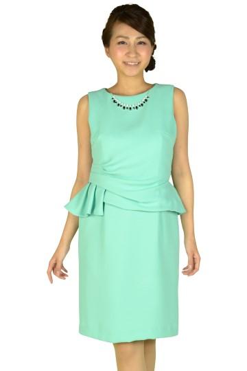 サイドタックミントドレス